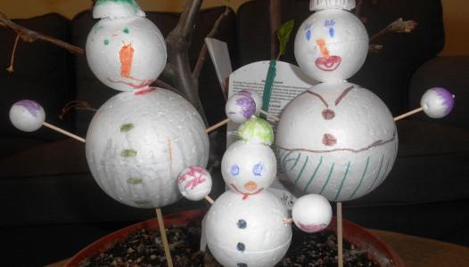la Famille Bonhomme de neige
