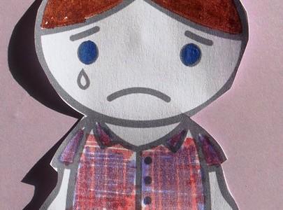 Les larmes de la p'tite Mégan