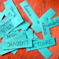 prénoms étiquettes