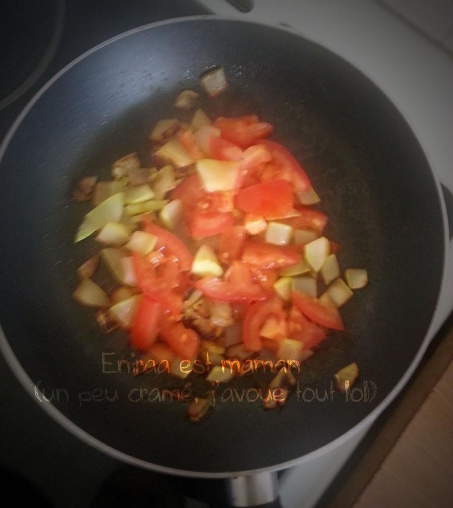 En cours de cuisson - recette courgette