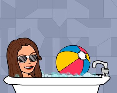 Eni dans son bain
