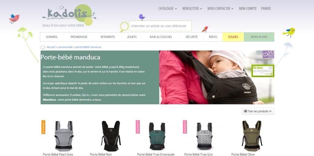 Screen site Kadolis
