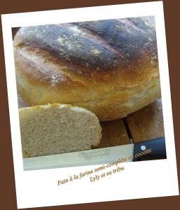 pain à la farine semi-complète en cocotte