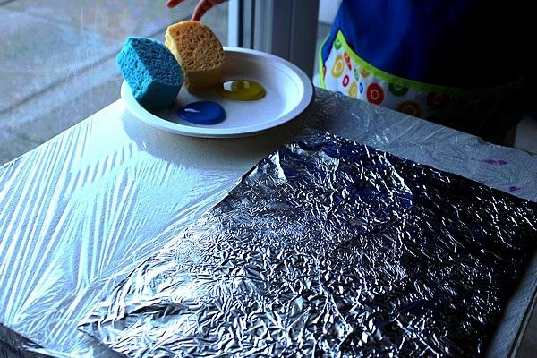 Maman Nougatine Activite Un Decor Pour L Aquarium De Bubulle Peinture Sur Aluminium Maman Nougatine