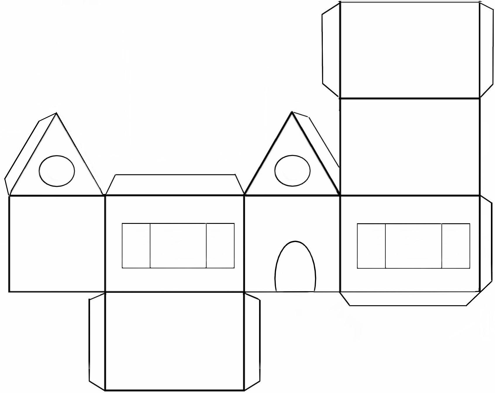 Maman nougatine colorier et d corer une maison pain d 39 pice en papier maman nougatine - Maison papier a decouper ...