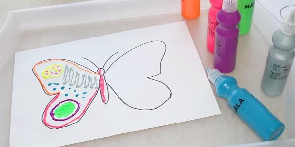 Maman Nougatine Peinture Symetrique Les Papillons Maman Nougatine