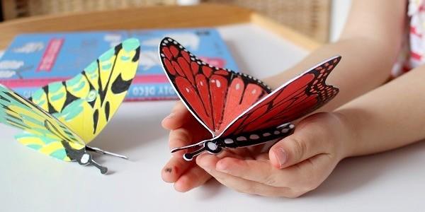 Coloriage Famille Papillon.Maman Nougatine Les Papillons En 3d Diy Deco A Colorier Maman