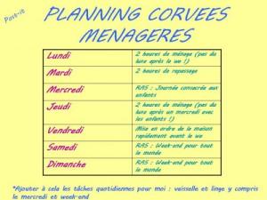 Planning corvée