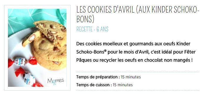 cookies d'avril