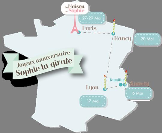 Les P Tites Bichettes Joyeux Anniversaire Sophie La Girafe