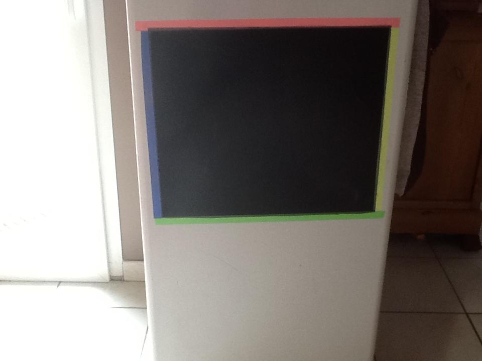 Bienvenue bord du vaisseau m re un frigo devenu tableau for Tableau aimante pour frigo